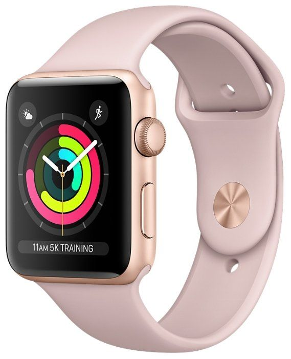 Apple Watch Series 3 38mm Aluminum Case with Sport Band Rose