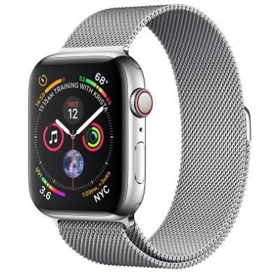 Apple Watch Series 4 44 mm Stainless Steel Case with Milanese Loop (Стальной)