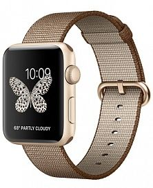Apple Watch Series 2 42mm with Woven Nylon Coffee/Caramel