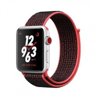 Apple Watch Nike+ Series 3 42mm Silver Crimson/Black Sport Loop