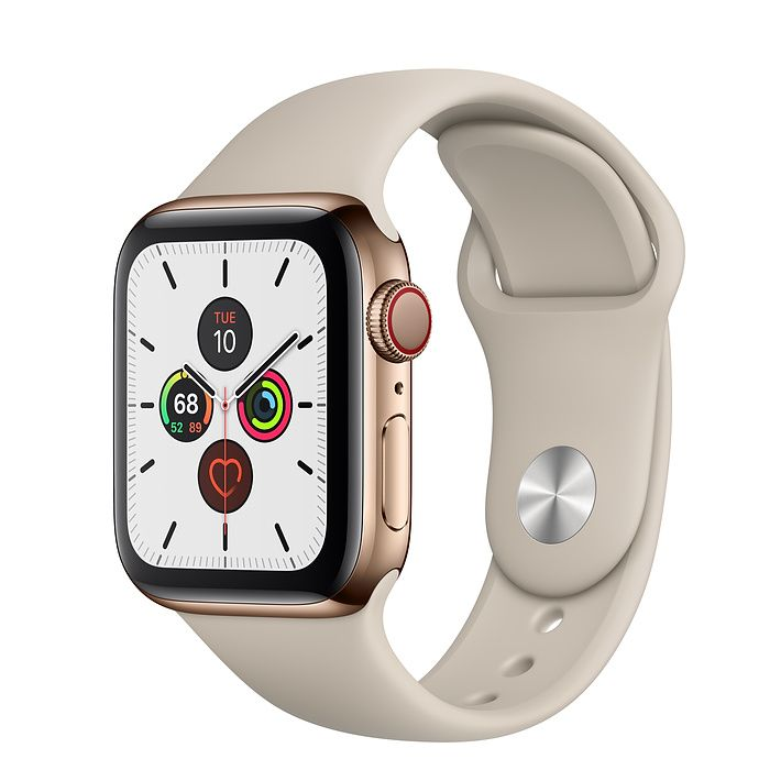 Apple Watch Series 5 40 mm Gold Stainless Steel Case with Stone Sport Band