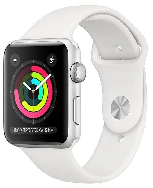 Apple Watch Series 3 38 mm Silver Aluminum Case with Sport Band