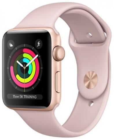 Apple Watch Series 3 42 mm Aluminum Case with Sport Band Rose