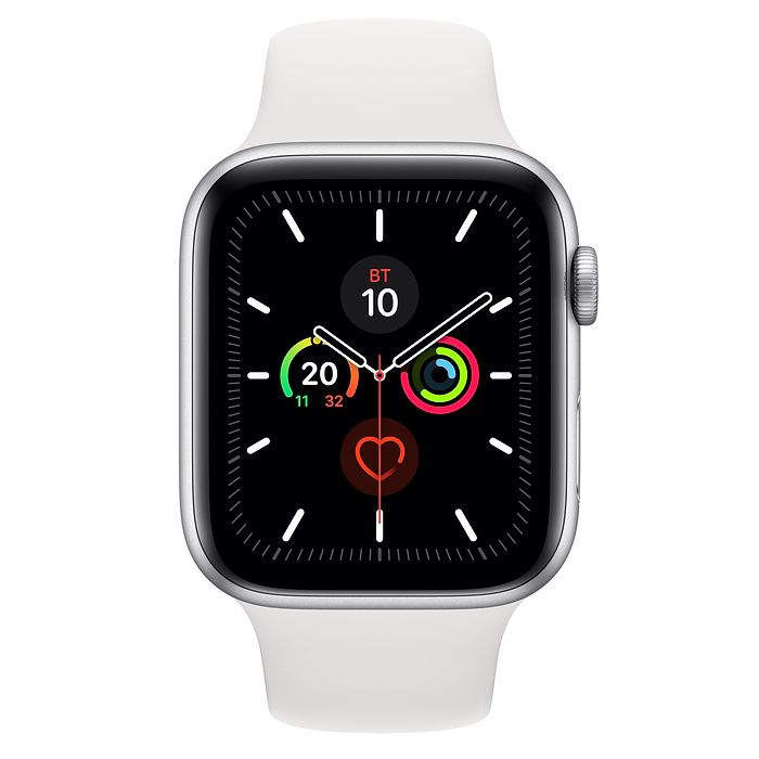 Часы Apple Watch Series 5 44 mm Silver Aluminum Case with Sport Band