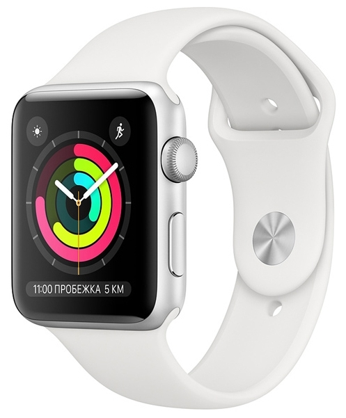 Apple Watch Series 3 42 mm Aluminum Case with Sport Band White