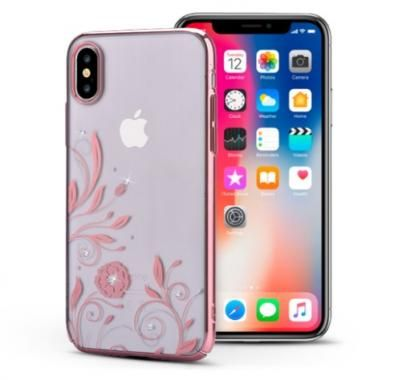 Чехол для iPhone X Devia Crystal Petunia case ( Rose Gold )