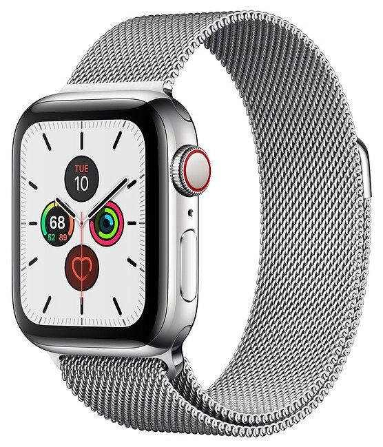 Apple Watch Series 5 44 mm Stainless Steel Case with Milanese Loop (Стальной)