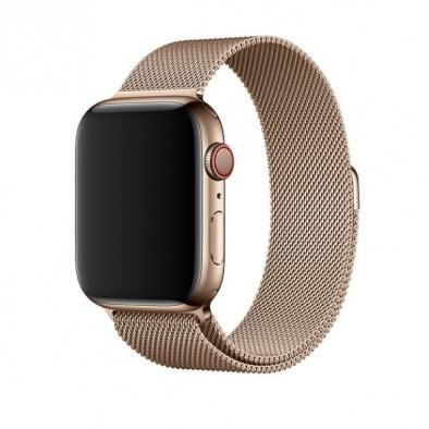 Apple Watch Series 4 44 mm Stainless Steel Case with Milanese Loop (Золотой)