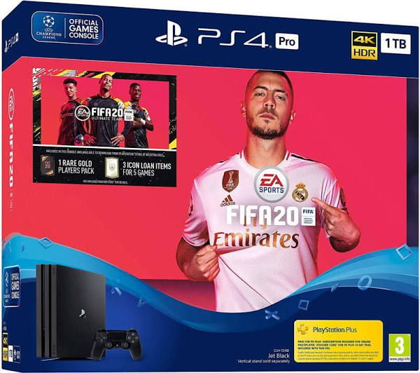 Приставка Sony PlayStation 4 Pro 1Tb Black + FIFA2020
