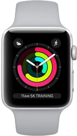 Apple Watch Series 3 42 mm Aluminum Case with Sport Band Fog