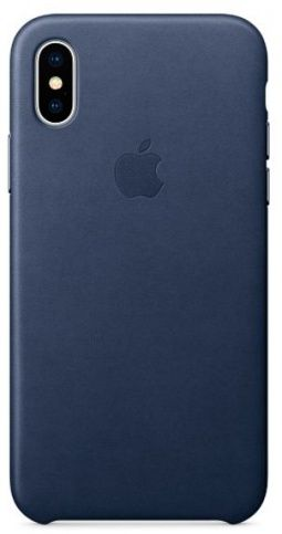 Чехол Apple Leather Case для iPhone X/Xs (DARK-BLUE)