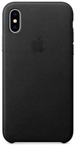 Чехол Apple Leather Case для iPhone X/Xs (BLACK)