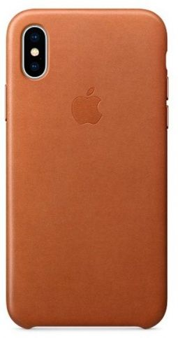 Чехол Apple Leather Case для iPhone X/Xs (BROWN)