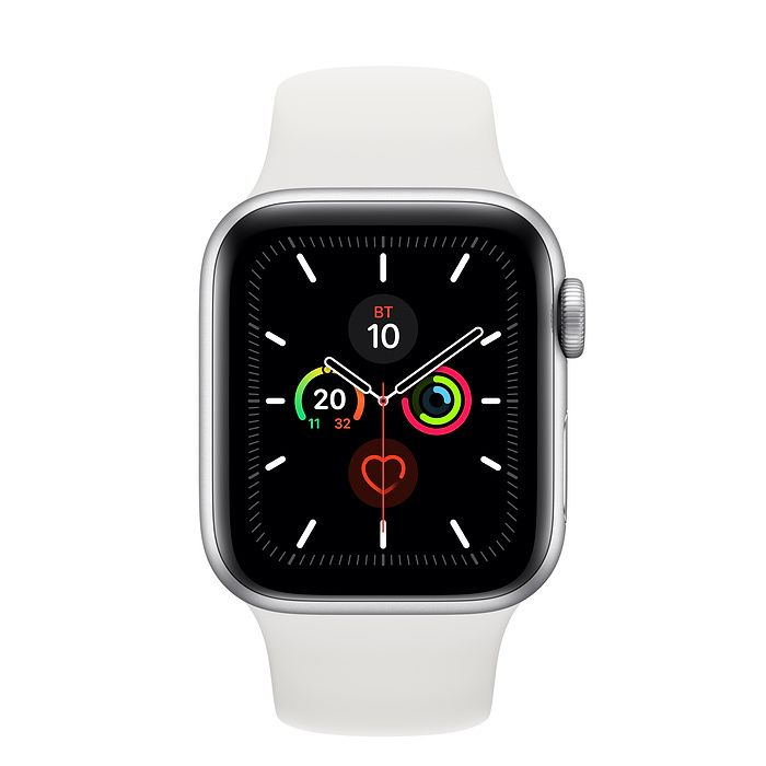 Часы Apple Watch Series 5 40 mm Silver Aluminum Case with Sport Band