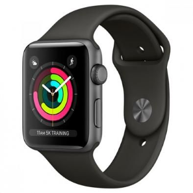 Apple Watch Series 3 42 mm Aluminum Case with Sport Band Gray