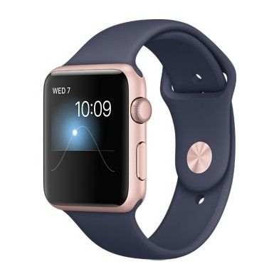 Apple Watch Series 2 42mm Aluminum Case with Midnight Blue Sport Band